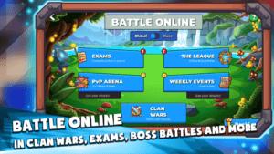 Langlandia Battle Online in Clan Wars, exams, boss battles game play screenshot